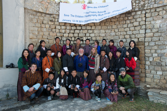 Save the Children staff, faculty and participants of fredric robert's photography workshop
