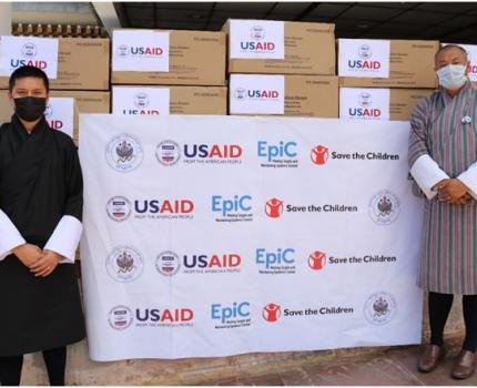 USAID donates PPE to Ministry of Health, Royal Government of Bhutan